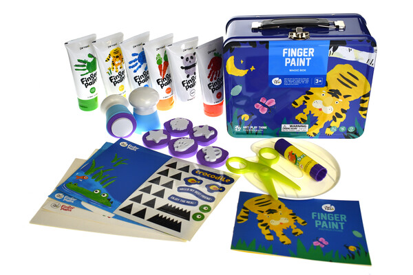 CHILDREN'S FINGER PAINT KIT(BLUE)