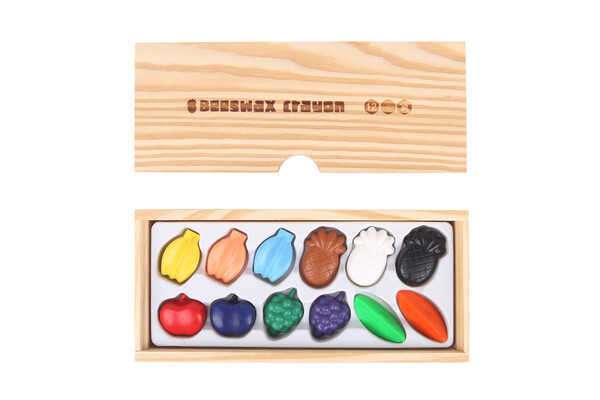 BEESWAX CRAYON -COLORFUL FRUIT -12 COLORS