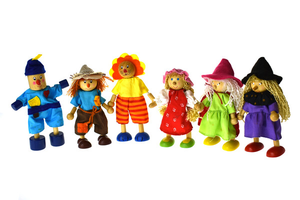 PRICE FOR 6 ASSORTED WIZARD OF OZ FLEXI DOLL