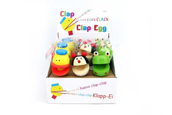 PRICE FOR ONE CLAP CLAP EGG ON STICK ANIMAL RANDOMLY PICK