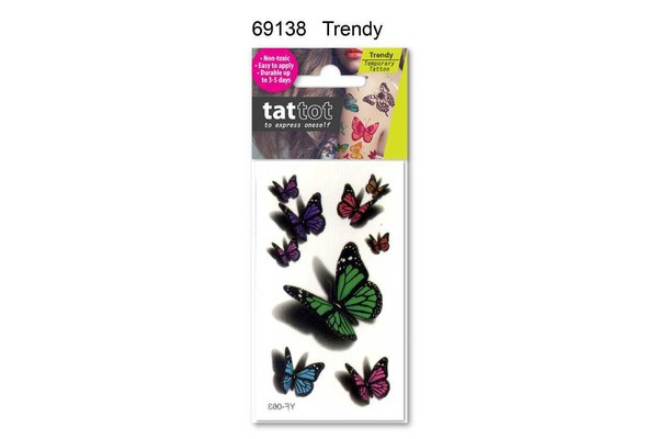 TATTOO MINI BUTTERFLY COLOR